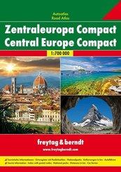 Freytag & Berndt Atlas Zentraleuropa Compact, Autoatlas 1:700.000; Central Europe Compact Road Atlas