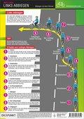 Radfahren - Links abbiegen, Info-Tafel