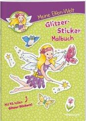 Meine Elfen-Welt - Glitzer-Sticker-Malbuch