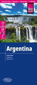 Reise Know-How Landkarte Argentinien (1:2.000.000); Argentina / Argentine