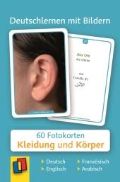 Deutschlernen mit Bildern: Kleidung und Körper, Fotokarten