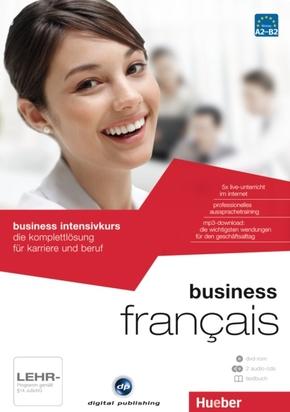 business intensivkurs français, 1 DVD-ROM + 2 Audio-CDs + 1 Textbuch