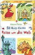50 Quiz-Karten: Reise um die Welt (Kinderspiel)