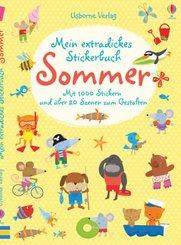 Mein extradickes Stickerbuch: Sommer