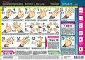 Gebärdensprache - Ziffern und Zahlen, Info-Tafel