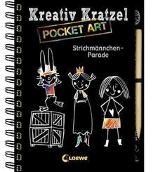 Kreativ-Kratzel Pocket Art: Strichmännchen-Parade