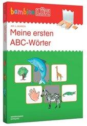 bambinoLÜK, m. bambinoLÜK-Lösungsgerät: Meine ABC-Wörter, Kontrollgerät mit Spiralbuchblock