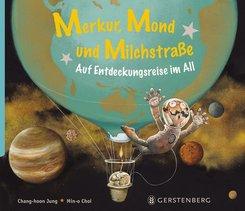 Merkur, Mond und Milchstraße