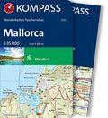 Kompass Wanderkarten-Taschenatlas Mallorca, m. 1 Karte