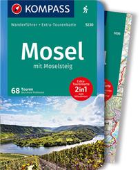 KOMPASS Wanderführer Mosel mit Moselsteig, m. 1 Karte