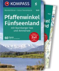 KOMPASS Wanderführer Pfaffenwinkel, Fünfseenland, Starnberger See, Ammersee, m. 1 Karte