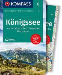 KOMPASS Wanderführer Königssee, Nationalpark Berchtesgaden, Watzmann, m. 1 Karte