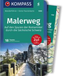 KOMPASS Wanderführer Malerweg - Auf den Spuren der Romantiker durch die Sächsische Schweiz, m. 1 Karte