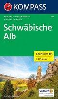 Kompass Karte Schwäbische Alb, 4 Bl.