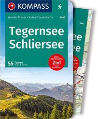Kompass Wanderführer Tegernsee, Schliersee, m. 1 Karte
