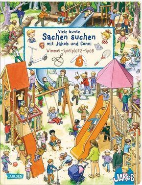 Viele bunte Sachen suchen mit Jakob und Conni - Wimmel-Spielplatz-Spaß