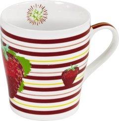 Porzellantasse - Erdbeerträume