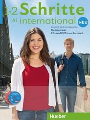 Schritte international Neu - Deutsch als Fremdsprache: Medienpaket, 5 Audio-CDs und 1 DVD zum Kursbuch; Bd.1/2