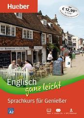 Englisch ganz leicht - Sprachkurs für Genießer, Buch + 2 Audio-CDs + MP3-Download