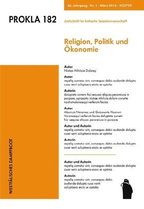 Prokla; Religion, Politik und Ökonomie; Bd.182