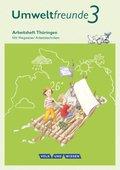 Umweltfreunde, Ausgabe Thüringen (2016): 3. Schuljahr, Arbeitsheft