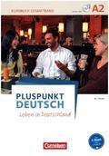 Pluspunkt Deutsch - Leben in Deutschland: Kursbuch mit Video-DVD + Arbeitsbuch mit Audio-CD (Gesamtband), 2 Tle.; Bd.A2