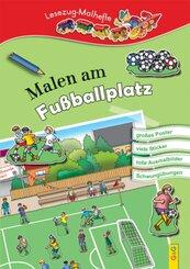 LESEZUG/ Malbuch: Malen am Fußballplatz