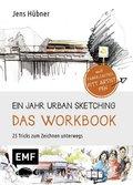 Ein Jahr Urban Sketching - Das Workbook, mit Stift