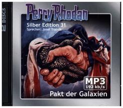 Perry Rhodan Silber Edition - Pakt der Galaxien, 2 MP3-CDs