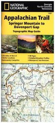 National Geographic Topographic Map Guide Appalachian Trail, Springer Mountains to Davenport Gap