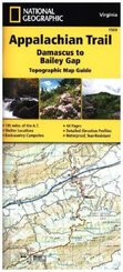 National Geographic Adventure Travel Map Damascus to Bailey Gap