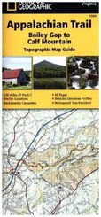 National Geographic Adventure Travel Map Bailey Gap to Calf Mountain
