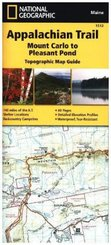 National Geographic Adventure Travel Map Mount Carlo to Pleasant Pond