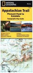 National Geographic Adventure Travel Map Pleasant Pond to Katahdin