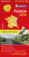 Michelin Karte Frankreich 2016 (widerstandsfähig); Michelin Karte France 2016, Indéchirable