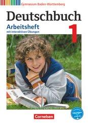 Deutschbuch, Gymnasium Baden-Württemberg (Bildungsplan 2016): 5. Schuljahr, Arbeitsheft mit interaktiven Übungen; 1
