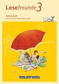 Lesefreunde, Östliche Bundesländer und Berlin 2015: 3. Schuljahr, Arbeitsheft
