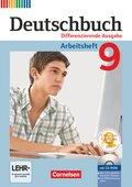 Deutschbuch, Differenzierende Ausgabe: 9. Schuljahr, Arbeitsheft mit Übungs-CD-ROM
