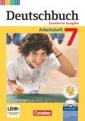 Deutschbuch, Erweiterte Ausgabe: 7. Schuljahr, Arbeitsheft mit CD-ROM