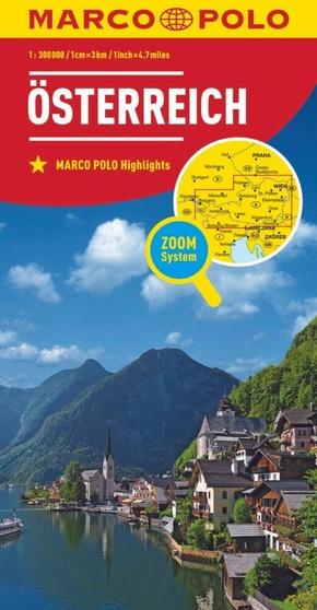 MARCO POLO Karte Länderkarte Österreich 1:300 000