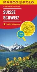Marco Polo Karte Länderkarte Schweiz 1:303 000; Suisse / Svizzera / Switzerland