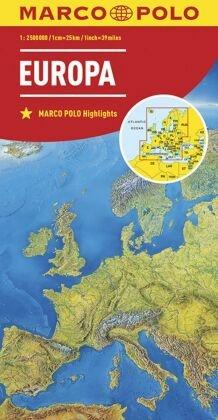 Marco Polo Karte Länderkarte Europa, physisch 1:2 500 000; Europe