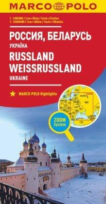 Marco Polo Karte Länderkarte Russland, Weißrussland, Ukraine 1:2 000 000; Russia, Belarus, Ukraine / Russie, Belarus, Uk