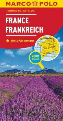 Marco Polo Karte Länderkarte Frankreich 1:800 000; France