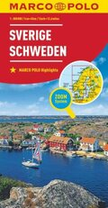 MARCO POLO Karte Länderkarte Schweden 1:800 000