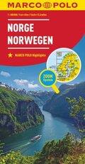 MARCO POLO Karte Länderkarte Norwegen 1:800 000