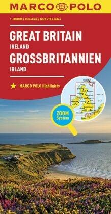 MARCO POLO Karte Länderkarte Großbritannien, Irland 1:800 000