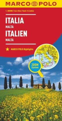 MARCO POLO Karte Länderkarte Italien, Malta 1:800 000