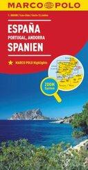 MARCO POLO Karte Länderkarte Spanien, Portugal, Andorra 1:800 000; Espana, Portugal, Andorra / Spain, Portugal, Andorra