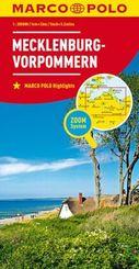 MARCO POLO Karte Mecklenburg-Vorpommern; Mecklenbourg-Poméranie-occidentale